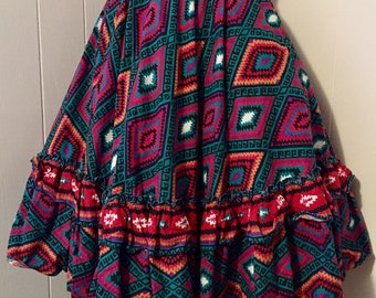 Vintage Mexican Style Circle Skirt