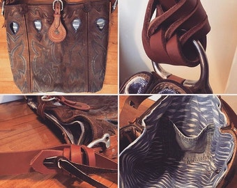 Custom made Cowboy Boot Purse- Upcycle your own cowboy boots