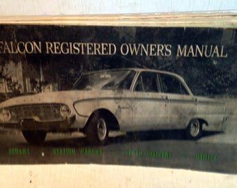 Vintage Ford Falcon Registered Owner's Glovebox Manual, 3111-FAL-3/62 (3592)