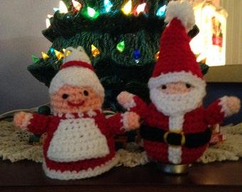 Crochet Mrs Santa Claus Ornament
