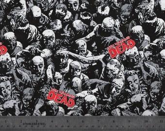 "58"" The Walking Dead  Knit Fabric BTY #954"