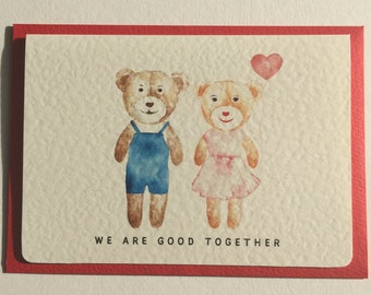 "Valentine's, Anniversary, Romantic Card ""We Are Good Together"""