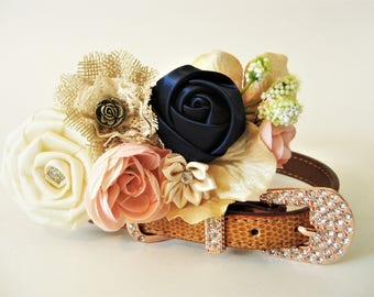 "Wedding Dog collar | The ""Bluebird"" 