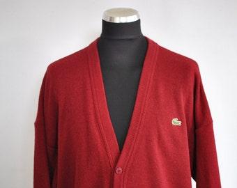 Vintage LACOSTE men's cardigan ...........(037)