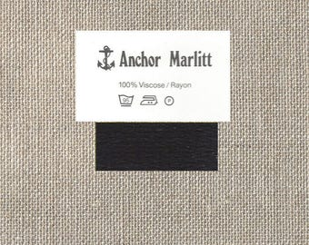 Anchor Marlitt Embroidery Floss - Four Strand - 100% Rayon - 10 Meters - Color 801 - Black - By the Skein