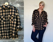 Vintage Women's Woolrich Wool Flannel Shirt - Size M Buffalo Check - Made in the USA