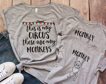 This is my circus these are my monkeys shirt, Funny Mom Shirt, Funny Mothers Day Gift Shirt, Monkey Shirt, Circus  Birthday Shirt, Mom of
