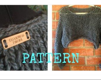 BOHO Pullover Sweater Pattern Loose Knit Sweater Shrug Plus Size
