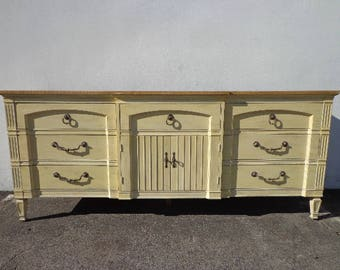 Dresser Chest Drawers Changing Table Media Console TV Stand Shabby Chic Regency French Provincial Buffet Bedroom Storage CUSTOM PAINT Avail