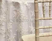 Laylani Lace Tablecloth in Ivory - Ideal for Weddings & Bridal Events