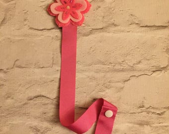 Hand crafted flower hair accessory holder