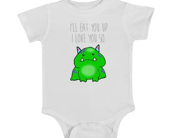 eat you up, baby onesie, cute onesie, newborn onesie, where the wild things are, i love you so, trendy onesie