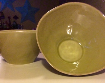 Pair of Sleek And Classy Crate&Barrel Serving Bowls