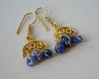 Tanzanite earrings what a statement only pair made have something no one else has
