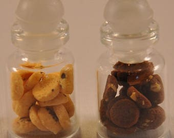 chose your jar of cookies -dark choc or light choc in 1:12 size for dolls house or mini projects