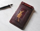 Vintage Desk Note pad ~ Dutch Windmill Embossed Telephone Memo Pad  /#0623
