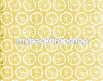 8ft x 8ft Lemonade Photography Prop - Lemon Photo Backdrop - Distressed Yellow floor Drop - Photo Prop for Children - Item 3127