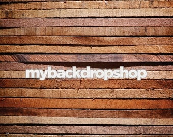 7ft x 7ft Rustic Stained Wood Ends Photography Backdrop - Light Wood Floordrop - Raw Edge Wood Photo Prop - Wooded Wedding Prop - Item 3077