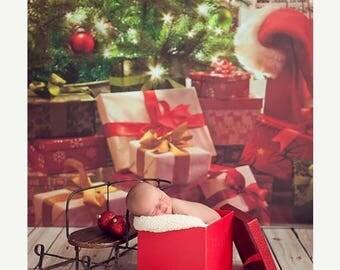 5ft x 6ft Christmas Tree Photography Backdrop – Holiday Photo Backdrop – Item 1757