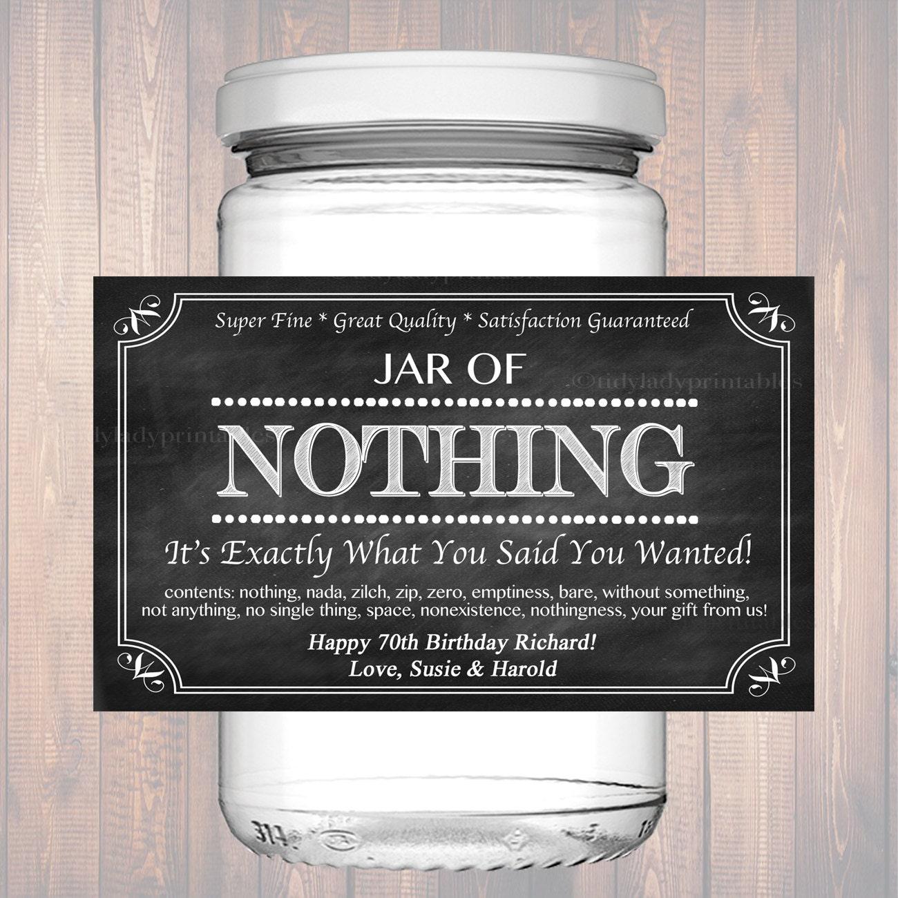 Modest image for jar of nothing printable label free