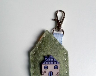key holder, bag hanger by wool felt