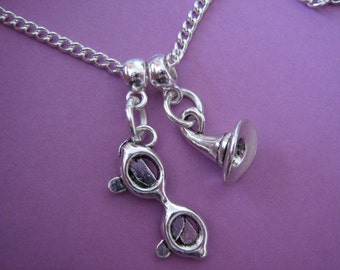 Wizard Necklace Harrys Glasses Wizard Hat Charms