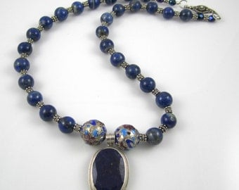 Blue Lapis Lazuli Necklace
