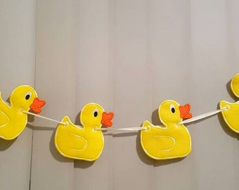 Cute Duck Bunting Banner