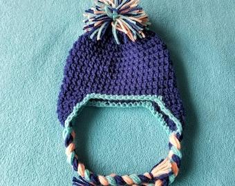 Newborn Baby Crochet Hat Blue - Handmade Accessories for Children - AutumnsItems
