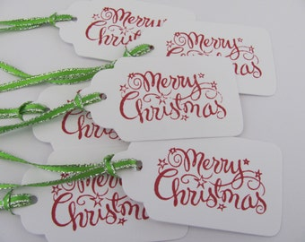 Merry Christmas Gift Tags, Holiday Gift Tags,Christmas Gift Tags, Christmas Tags, Christmas Favor Tags, Christmas Hang Tags, Christmas