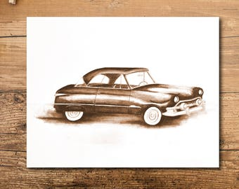 Car Art - Classic Car Art - Personalized Car Art - Personalized Classic Car Art - Car Wall Art - Class Car Wall Art