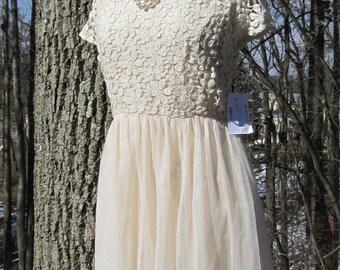 New Cream Lace Dress