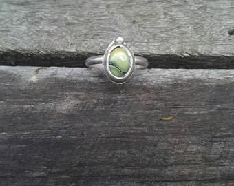 New lander variscite sterling silver ring