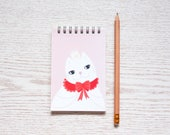 Cat Spiral Notepad, Blank Notebook, Notepad for Bullet Journal