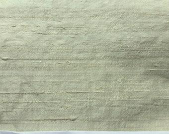 "LimeWash 55"" x 54"" wide  - Pure Silk Dupioni Fabric - Handwoven -"