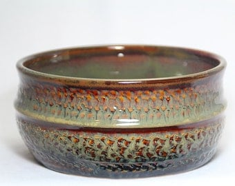 pottery bowl, hand-thrown pottery bowl