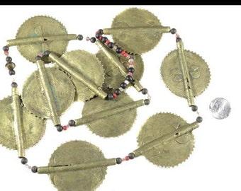 Large Baule  African tribe handmade brass Trade Beads