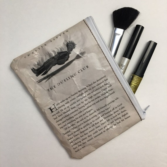 Harry Potter Book Themed Vinyl Pencil or Make-Up Pouch - The Dueling Club