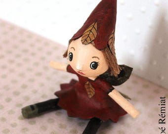 """Mini doll fairy of the Woods """"Leaves"""""""