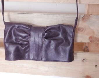 Vintage bag pockets brown leather brand ALCOTT OOAK Made in Italy
