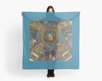 Vatican Museum ceiling mural silky scarf shawl wrap