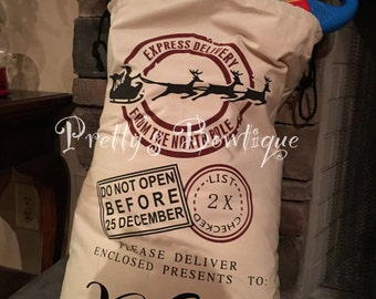 Personalized Santa Sack Personalized with Child's Name -- Sale