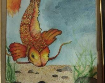 Koi Watercolor Painting