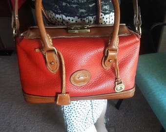 Vintage Dooney & Bourke Hand Fitted Satchel- Dr Bag-RED