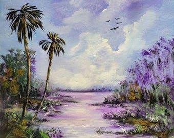 Florida Original Painting Highwaymen Style:  Morning Mist