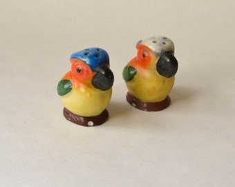 Parrot Salt and Pepper Shakers Tiny Bird Shakers
