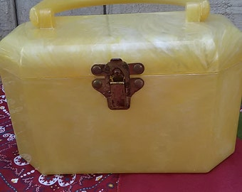 Vintage Bakelite Plastic Hand Bag Purse Cluch