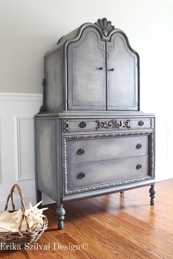 CUSTOM FINISH For Jenine Antique Jacobean Ornate Carved Oak