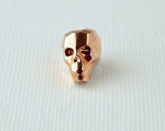 13mm Swarovski™ Skull Bead Rose Gold