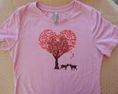 Women's Goat Love Tri-blend t-shirt, Size S-XXL